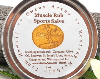 Sore Muscle Salve, Sports Salve  for Sore Muscles - Workout, Sports, Hiking, Muscles, Sore Muscles, Herbal Salve, Sports Rub