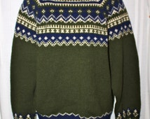 DANNIT 'Wallachs Exclusive Imports' Unisex Winter Pure Wool Sweater, Handknit in Denmark