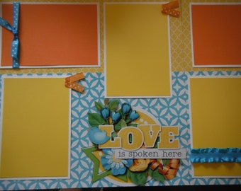 FAMILY  Love is Spoken Here Family RulesPremade  12x12 Scrapbook Pages for your FAMILY  Boy GIRL