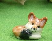 resting fox figurine- terrarium miniatures