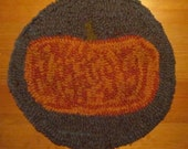 Primitive Fall Pumpkin Chair Pad