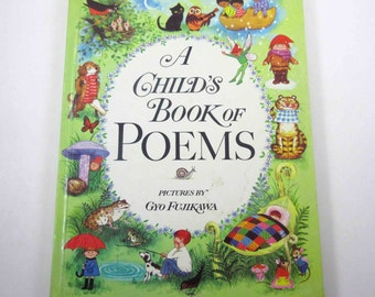 A Child's Book of Poems Vintage 1970s Illustrated by Gyo Fujikawa