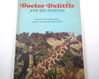 Doctor Dolittle and His Friends Vintage 1960s Motion Picture Edition Children's Book by Random House