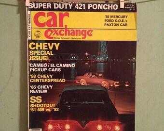 ON SALE Car Exchange Magazine Aug 1983 Antique Cars 1958 Chevy Ford Trucks 1955 Mercury Chevrolet Pickup Truck El Camino MidCentury GMC 1971