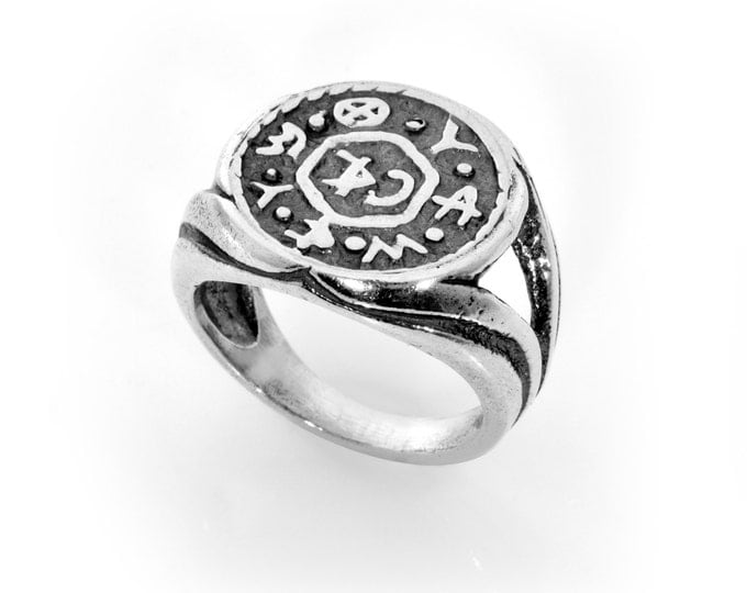 Good Living & Livelihood King Solomon Sterling Silver Ring Amulet
