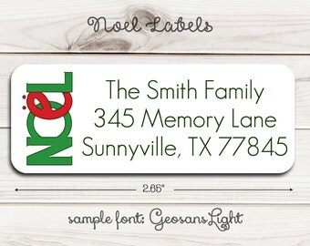 Noel Return Address Labels