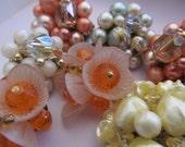 Vintage Earrings for Repurpose (7)(28-30mm) Beads Findings