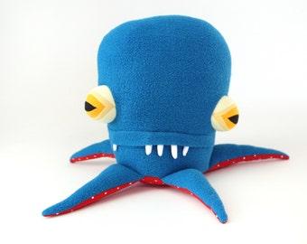 "Plush Sea Creature Plush ""Andy"" Pentapod Cotton Monster"