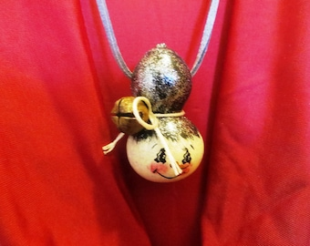 Gourdeous Gourd Snowman Head Pendant Necklace