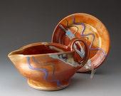 Handmade Gravy Boat, Ceramic Pitcher, Landscape Desert Colors, Sauce Pitcher, Gravy Jug, Serving, Stoneware Pitcher