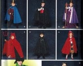Simplicity 5927 Kids Costumes Capes Sewing Pattern Sizes 3-4-5-6-7-8 Lots of different options Dracula Red Riding Hood King Magician