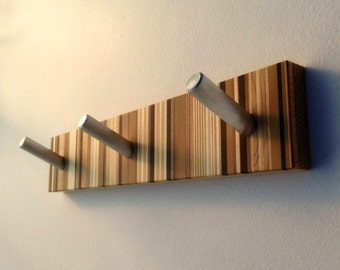 Wall Coat Rack, Modern Wood Coat Rack, Unique Wall Mounted Decorative Coat Rack