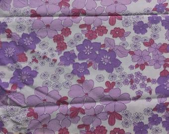 Seventies vintage floral fabric - 70x55 cm.