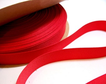 Red Ribbon, Tangy Red Grosgrain Ribbon 7/8 inches wide x 10 yards, Offray Ribbon