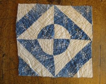 Antique Quilt Piece | Vintage Quilt Piece |  Old Cutter Quilt Piece