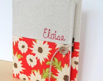 custom personalized photo album holds 208 photos Sandy Henderson daisy floral