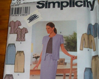 Simplicity 9159 Plus Size Misses pants, skirt and  jacket  Sewing Pattern