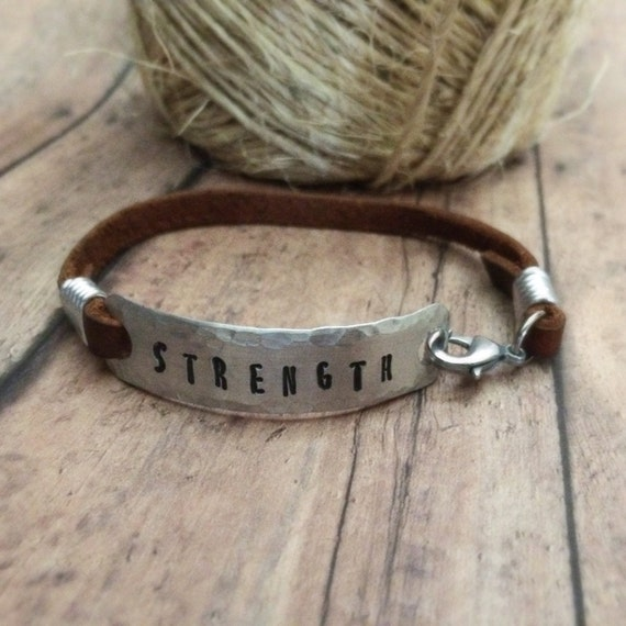 Items Similar To Strength Bracelet Word Of The Year