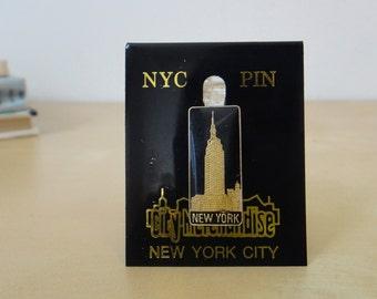 Vintage Empire State Building Enamel Pin