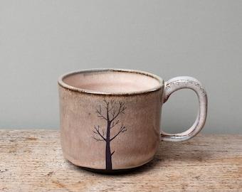 Blue Winter Tree Mug