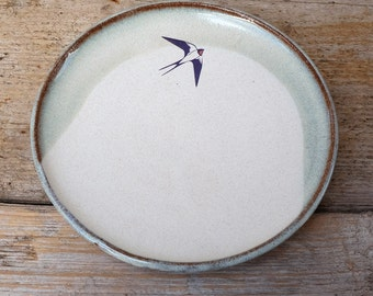 Blue Swallow Side Plate