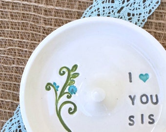 Sister Gift Ring Holder Keepsake - In Stock and Ready to Ship