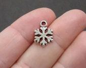 50 Bulk, Snowflake, Small Charms 15x10mm ITEM:BX13