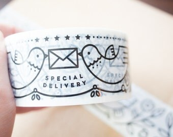 Printed Packaging Tape / Carton Sealing Tape - Dove Special Delivery