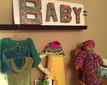 Brite Baby Sweater and Cap