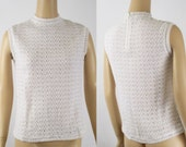 1960s White Vienna Lace Sweater NOS | Packaged B36 W32
