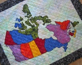 CANADA PATCHWORK MAP Quilt from Quilts by Elena Ready to Ship Pattern also available