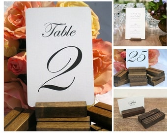 Table Card Holder + Rustic Wedding +Rustic Table Number Holder (Set of 25)