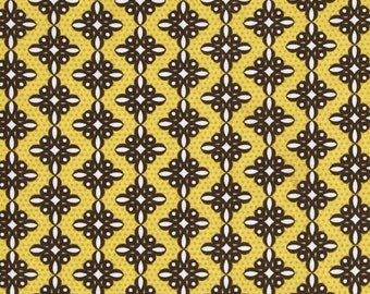 Birds and Blooms Spiro Brown Benatex - Cotton Quilting Fabric - 1 Yard