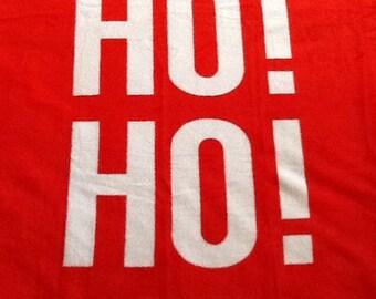 Ho Ho Ho NoSew Fleece Blanket
