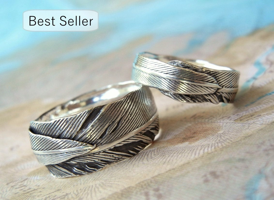 unique wedding rings silver wedding bands eco friendly