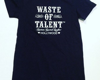 Waste of Talent Short Sleeve Tshirt in Navy Size X-Large Shirt