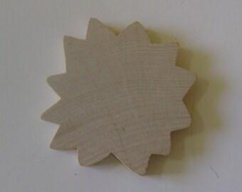 10-2 1/4 inch Unfinished Wood Sunflower/Sunshine Shapes Craft Supply