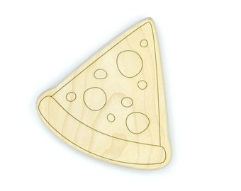Pizza Wood Toy Teether