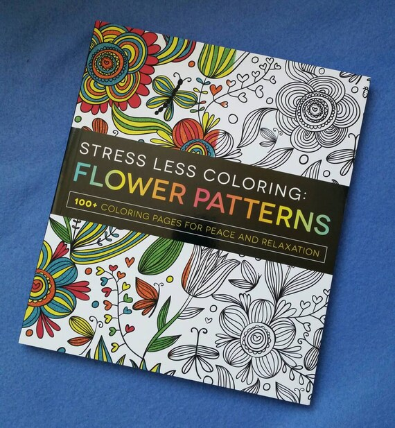 stress less coloring flower patterns 100 coloring pages