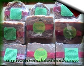 2 Large Handmade Soap Bars Smokey Woods w Aloe Vera for Dry Skin  All Natural Ingredients