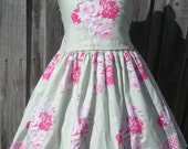 ON SALE Ready to Ship Custom Boutique  Spring Flower Dress Girl Size 7 / 8