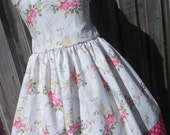 ON SALE Ready to Ship Custom Boutique Taffeta Easter Spring Dress Girl Size 7 / 8