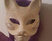 Cat, Cat mask, Mardi Gras mask, Kitty, Kitty mask, Day of the dead, Cat costume, kitty ears