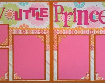 Premade Scrapbook Page Double Page Layout 12 x 12 My Little Princess