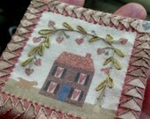 Teeny Tiny Miniature quilt country dollhouse scale 1\4  or 3\4 or  1\12