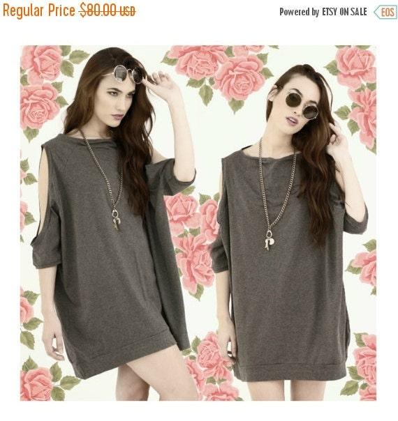 SALE 20% BABOOSHKA Peek A Boo Oversized T-Shirt Dress (colors)