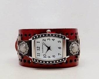 Steampunk watch. Steampunk wrist watch. Biker watch.