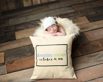 Personalized Birth Date - Pillow Cover