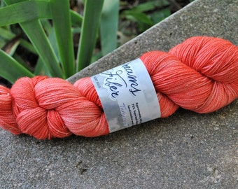 Glint Sock - Tangerine Tango