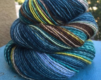 Handspun Superwash BFL Yarn in *From Garrus, With Love* (256 yards)